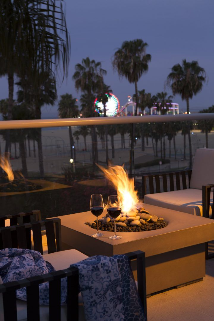 Ocean Terrace Fire Pit in Loews Santa Monica, Santa Monica, California - 55 Best Hotel Inspiration Images On Pinterest Baltimore, Rooftop