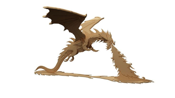Smaug the Magnificent Hobbit Dragon of Erebor - Mythical | MakeCNC.