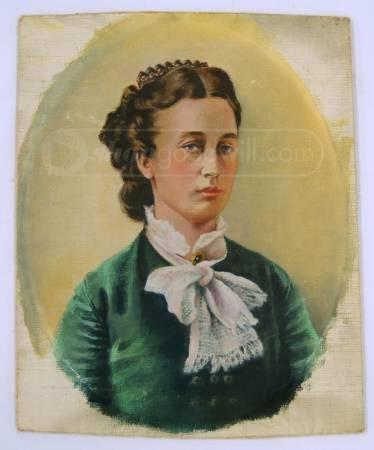 Victorian Lady Portrait Oil Painting