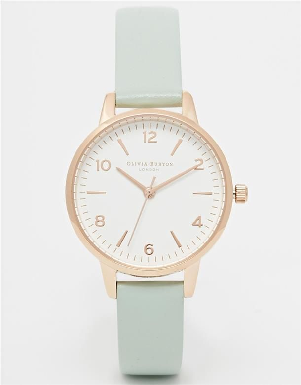 Olivia Burton Olivia Burton Exclusive To ASOS Midi White Face Mint Watch at ASOS