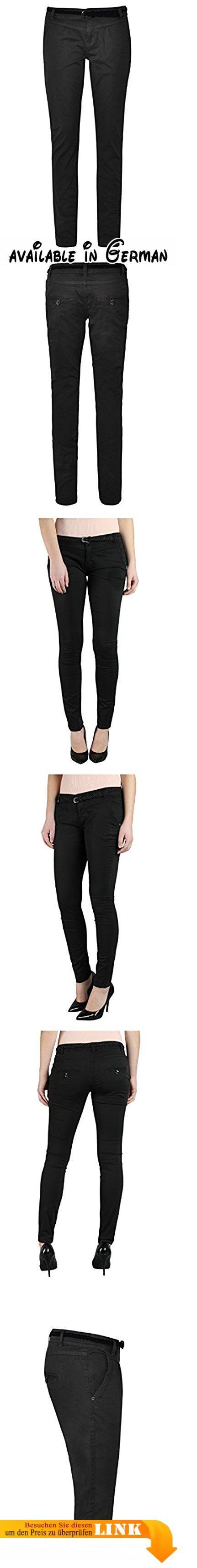 Urban Surface Damen Chino-Hose I Elegante Stoffhose mit Flecht-Gürtel aus bequemer Baumwolle black1 S. STYLE: Im angesagten Chino Style ist diese Hose super bequem zu tragen und sieht einfach elegant aus. Den schicken Flechtgürtel gibt's gratis dazu ✔. LOOK: Zu einer einfarbigen Chino-Hose fällt die Oberteil-Wahl recht einfach. Hier passen verzierte Blusen, genauso gut wie Strickpullover oder Print Shirts.. TRAGEGEFÜHL: Das Material ist recht dünn und locker, sodass