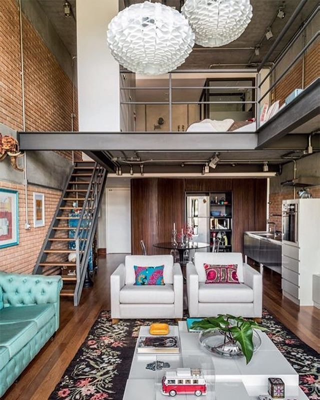industrial house interior. 110 best lofts  images on Pinterest Industrial home design Loft house and Spaces