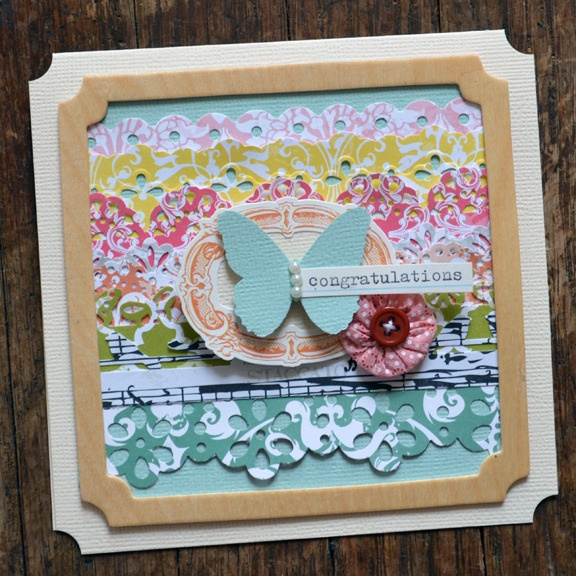 LayersBeautiful Cards, Border Punch, Paige Hereford, Cards Scrapbook, Paige Evans, Butterflies Cards, Papercrafts Scrapbook, Scrapbook Cards Ideas, Paper Crafts