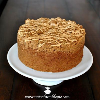 Dulce de Leche Coffee Cake. A pile of crumb topping on the top means ...