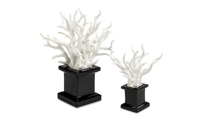 Ceramiche dal Pra, White Coral On Plinth - LuxDeco.com