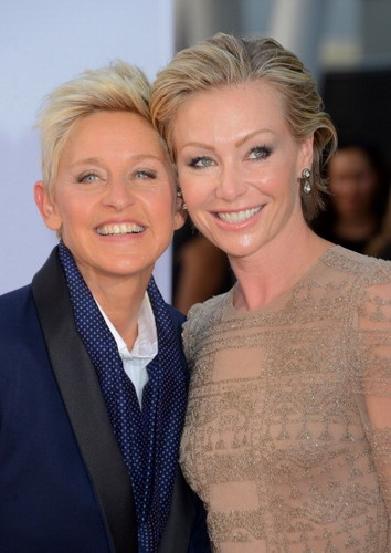 One of the most high-profile couples, Ellen DeGeneres and Portia del Rossi were married in 2008.