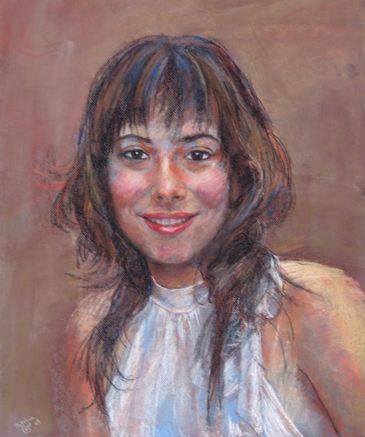 Este retrato es un encargo que me hicieron para hacer un regalo