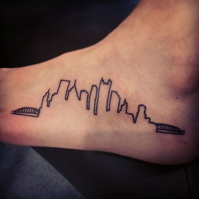 Best 25 pittsburgh skyline ideas on pinterest for Tattoo places in pittsburgh