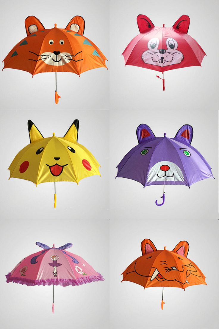 [Visit to Buy] Creative Cartoon Umbrella Children Lovely Ears Whistle Bumbershoot Suitable For 2-7 Years Old Young Kids Animal Umbrella #Advertisement