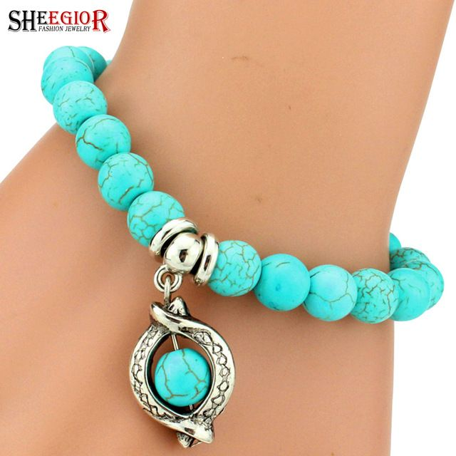 【 $0.80 & Free Shipping / Coupons 】Love vintage charm bracelet femme Bohemian turquoise bracelets bangles pulseras mujer pendants women jewelry | worth buying on AliExpress