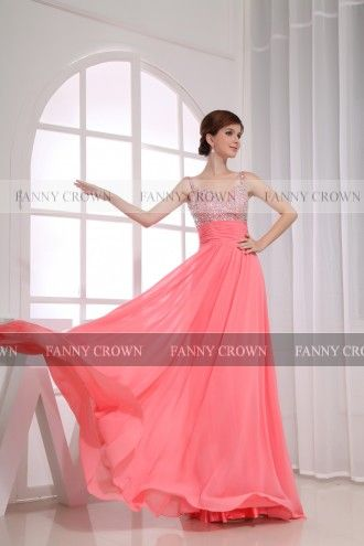 Chic Sweetheart Long Watermelon Prom Dresses | Fanny Crown