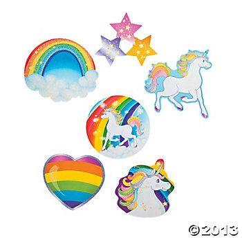 Unicorn Party Glitter Cutouts