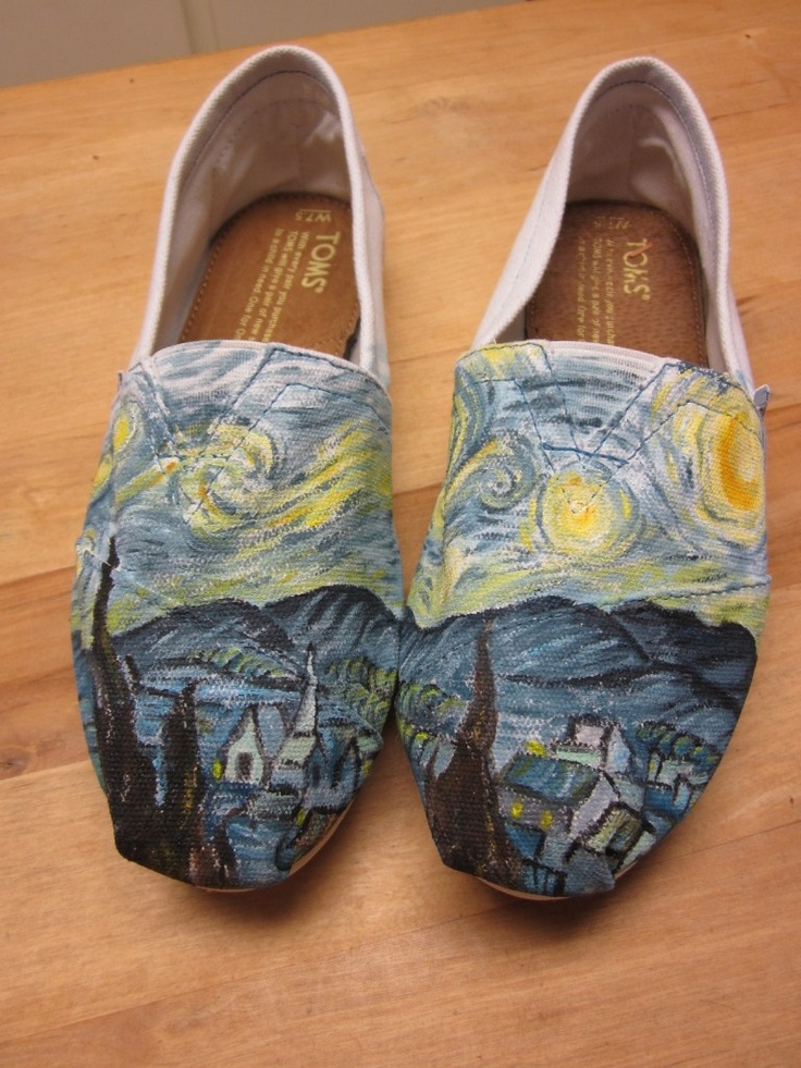 My friend Jenette could make so much money painting shoes (or anything else) for people.