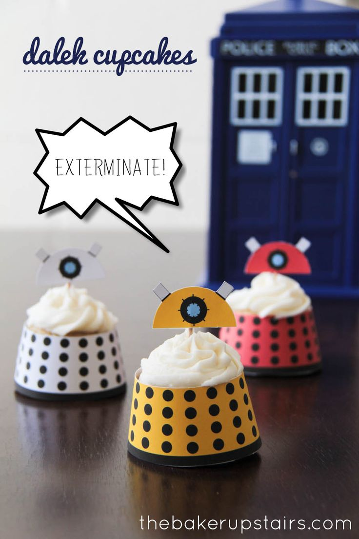 the baker upstairs: doctor who monster cupcakes