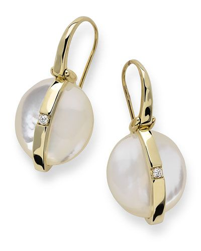 Ippolita 18K Senso Wrapped Snowman Earrings in Mother-of-Pearl OMK09P9WLq