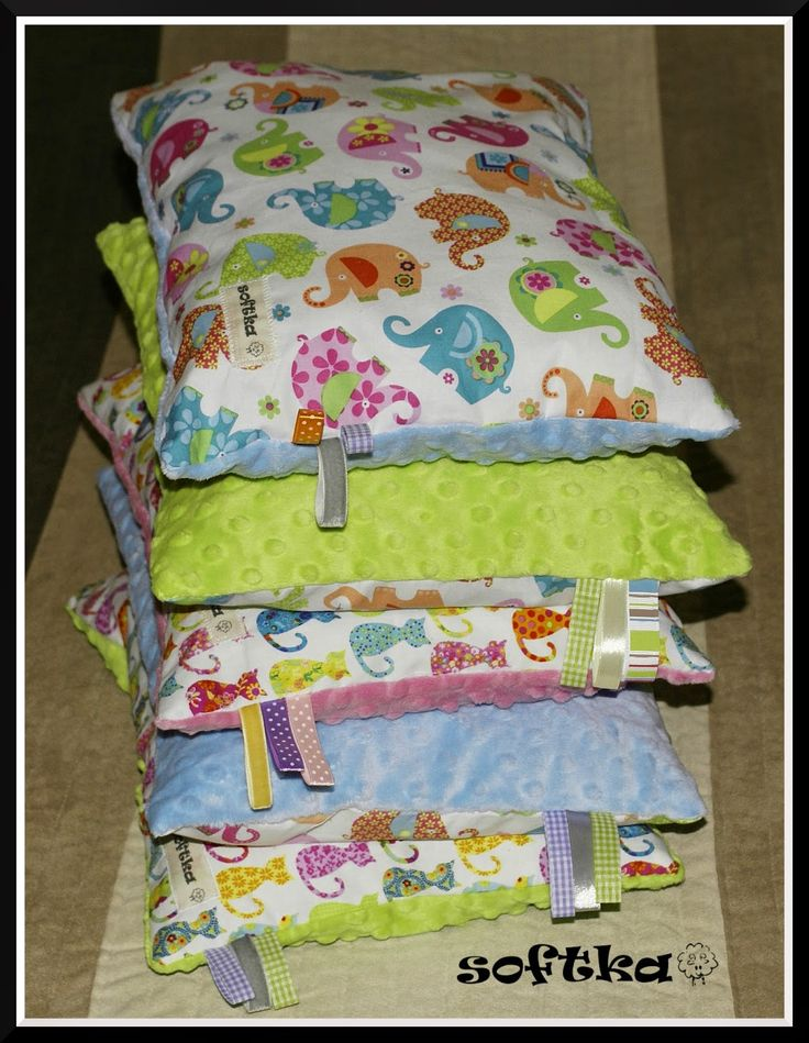 Soft and delicate pillows for girls with taggies.