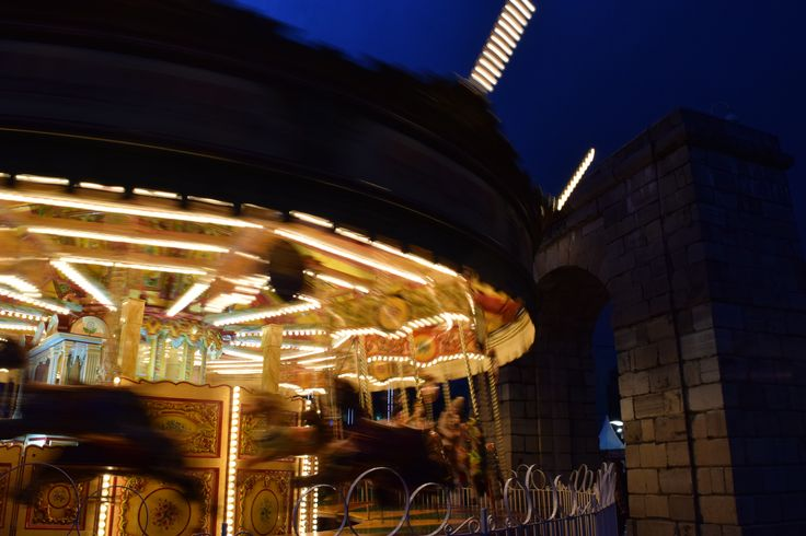 Carousel at I Believe Christmas market Dublin  © Sarah Murphy