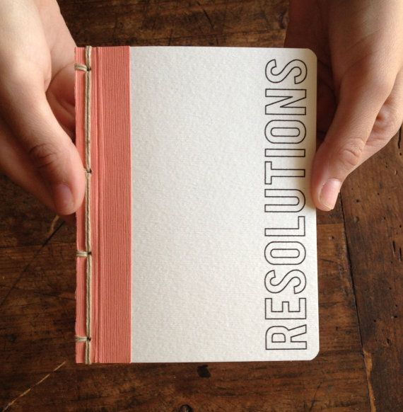 "Handmade Resolution Pocket Journal on Etsy. (Though ours should be called ""Resolutions I'll Break."")"