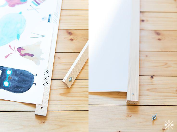 DIY Posterleiste - Bilderleiste selbst gemacht | relleomein.de #diy #posterleiste