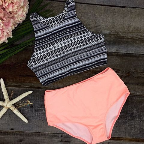 Cupshe Hot Summer Tank Top and Orange Bottom Bikini