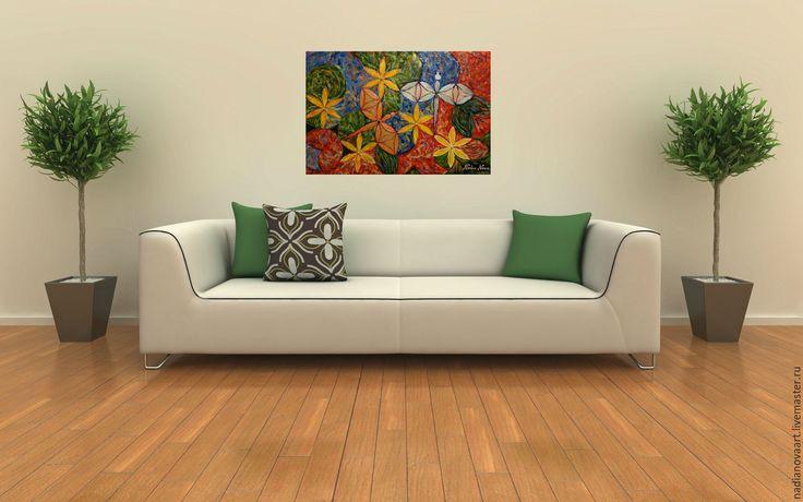 """Купить """"Стрекозы. Медовый месяц"""" -необычная картина с ювелирными вставками - комбинированный, картина стрекозы"""