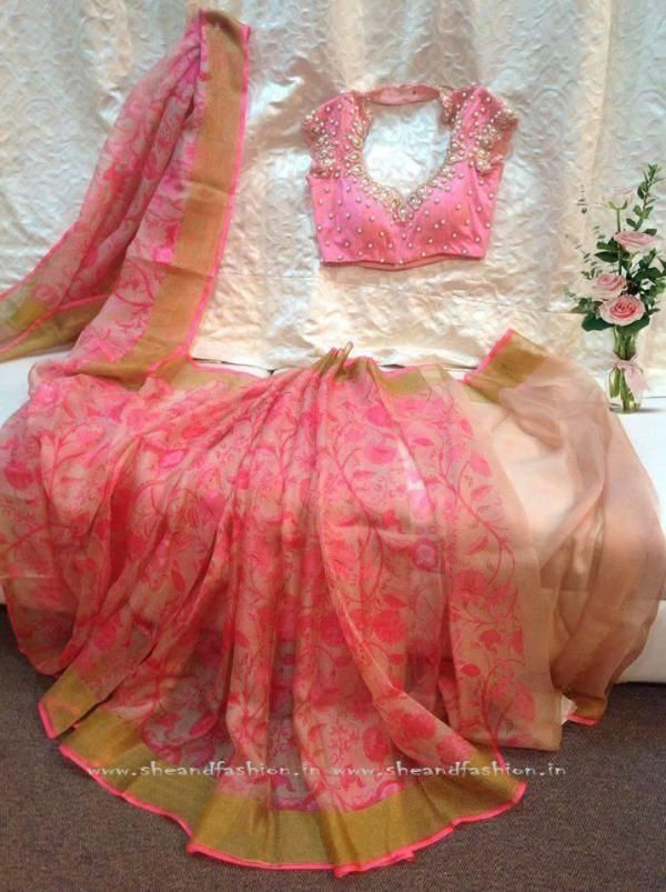 Floral Print Saree Designs