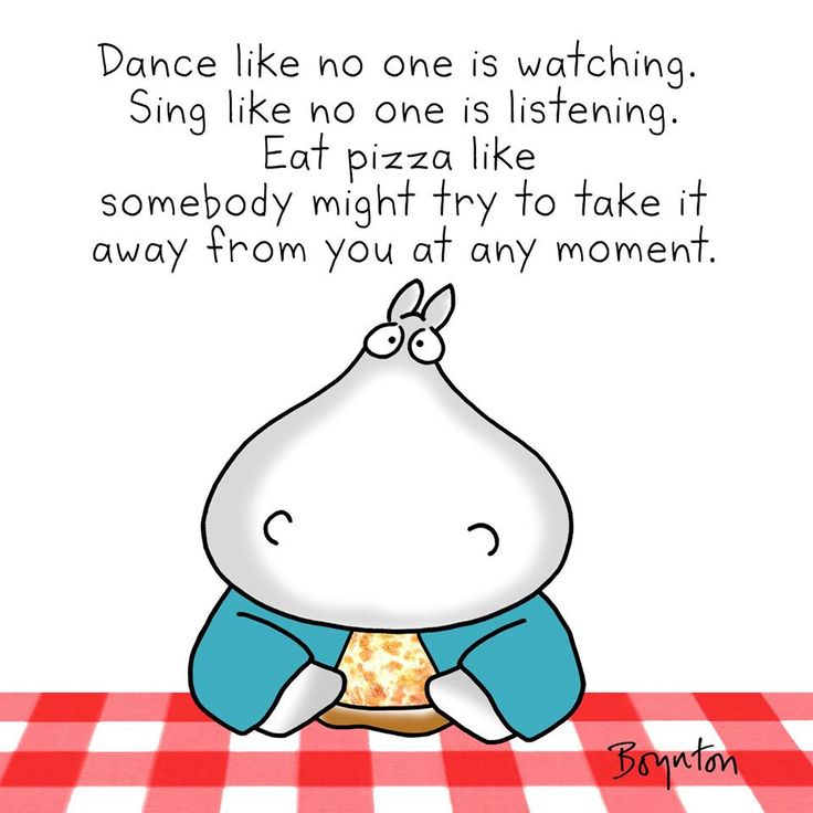 Eat pizza like somebody might try to take it away from you at any moment!