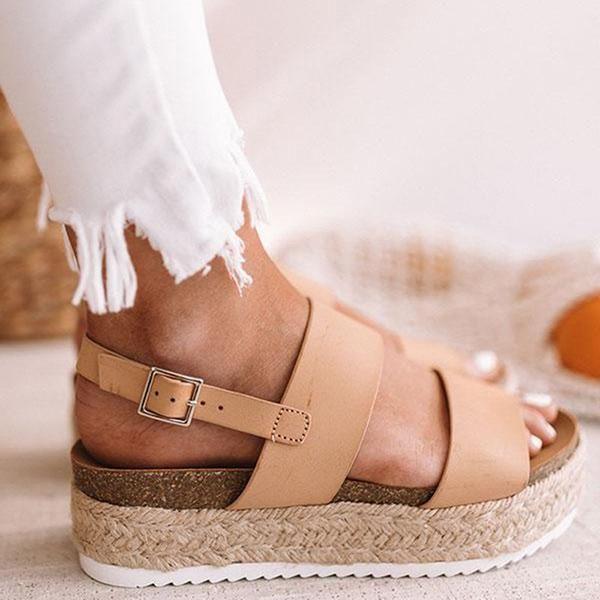 7876afac3 Casual Espadrille Platform Sandals en 2019   My Closet   Sandals ...