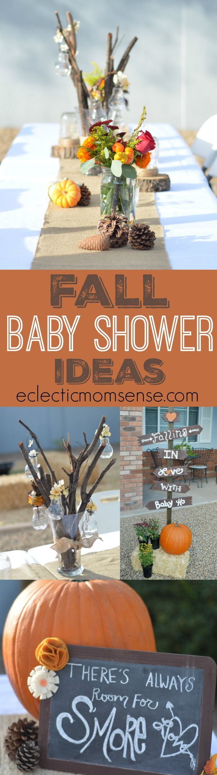 FALL BABY SHOWER IDEAS- Adorable autumn inspired Fall in Love with baby themed shower.