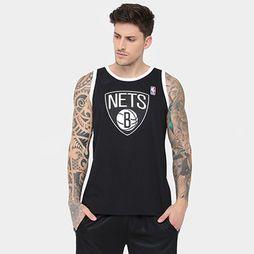 Camiseta Regata Machão NBA Masc First Nets 17 - Preto+Branco