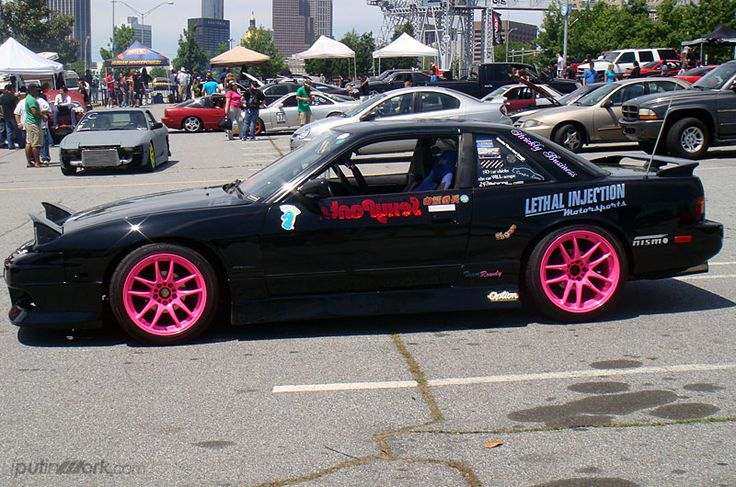 adam g 39 s nissan 240sx s13 on work emotion cr kai in custom pink finish cars pinterest. Black Bedroom Furniture Sets. Home Design Ideas