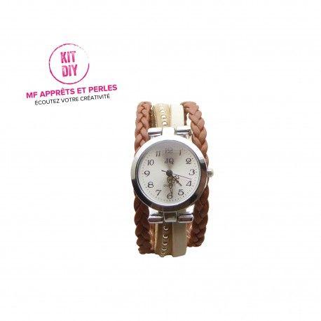 Réalisez votre montre, mf apprets et perles vous propose des kits avec tutoriel à petits prix