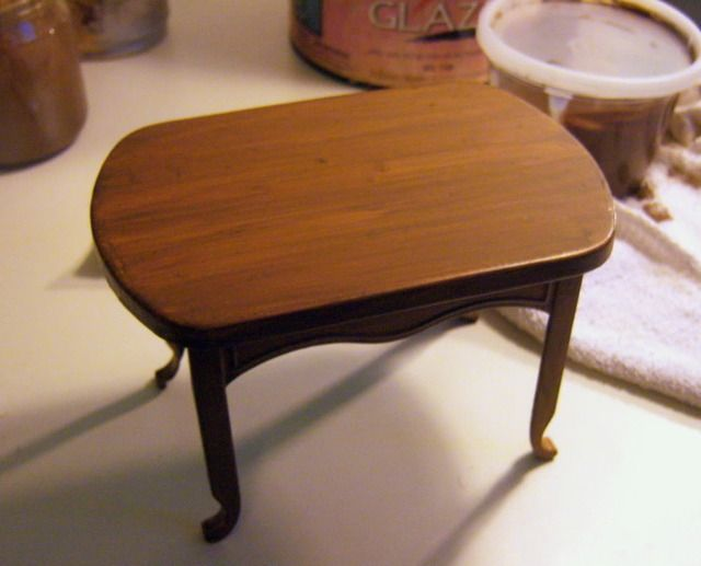 miniature dollhouse furniture woodworking. how to painting faux wood grain on plastic furniture miniature furnituredollhouse dollhouse woodworking d
