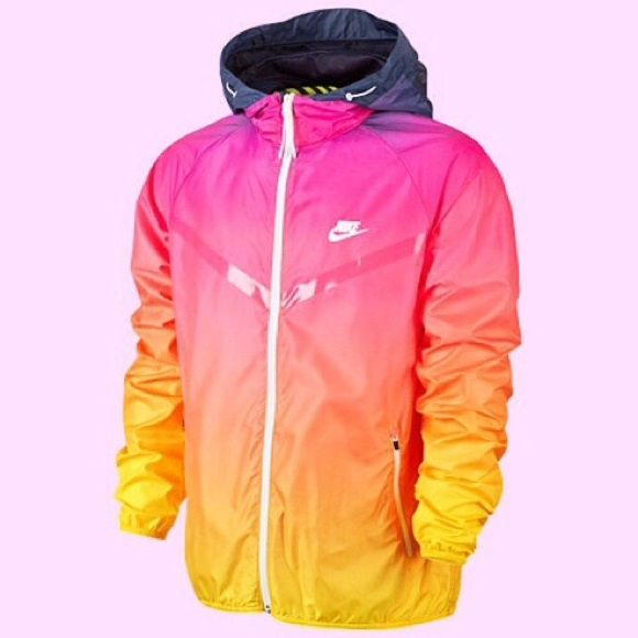 NIKE WINDRUNNER JACKET One of a kind Nike rain jacket in PERFECT condition!!!  Only worn once!  Drawstring around hood and two front pockets.  Size S but fits more like a M Nike Jackets & Coats