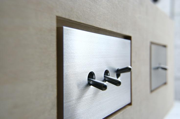 SWAL [Light switches] , Material:Duralumin, Design:Mimasis Design , Manufacture:Sakamoto Kosakusho