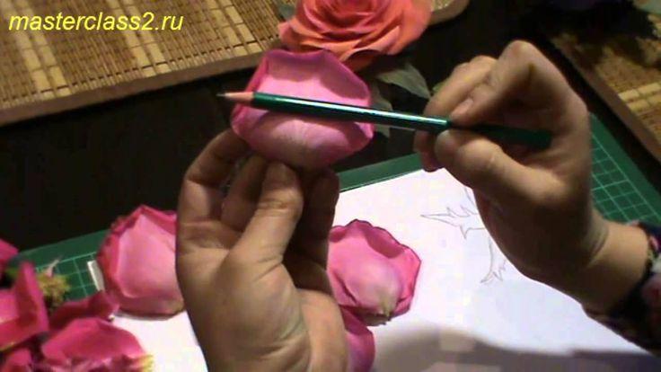 Цветы из ткани. Создание выкройки для розы из ткани ✄ https://www.youtube.com/watch?v=sn-xl4cYKnU&