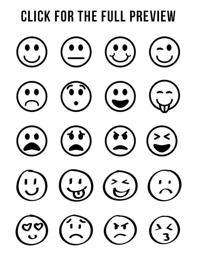 20 Emojis Clipart Clip Art Clip Art Borders Emoji