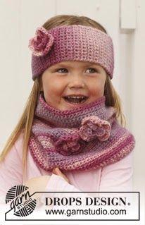 Patrones Crochet, Manualidades y Reciclado: BANDA DE LA CABEZA Y CUELLO A GANCHILLO PARA NIÑA ...