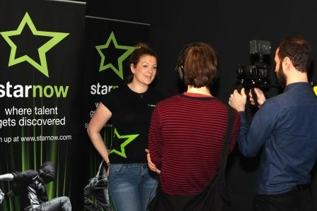 BFI: Felicity Jackson being interviewed at the #starnow stand at the BFI Future Film Festival.