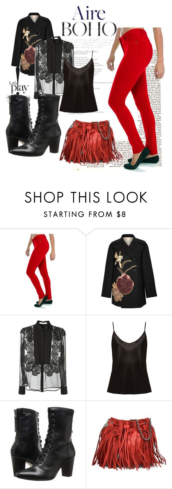 Aire Boho by sweatinstyle on Polyvore featuring Givenchy, La Perla, Valentino, Johnston & Murphy, Fashion Outlet NYC and STELLA McCARTNEY
