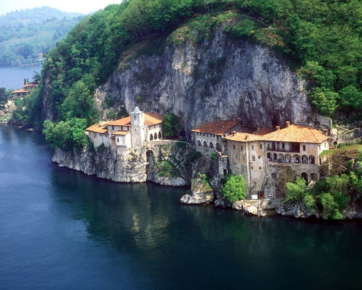 """The Hermitage of Santa Caterina del Sasso, perched on its """"balcony"""" overlooking the Borromeo Gulf, is one of the most intriguing historical sites on Lake Maggiore - Milli (facebook)"""