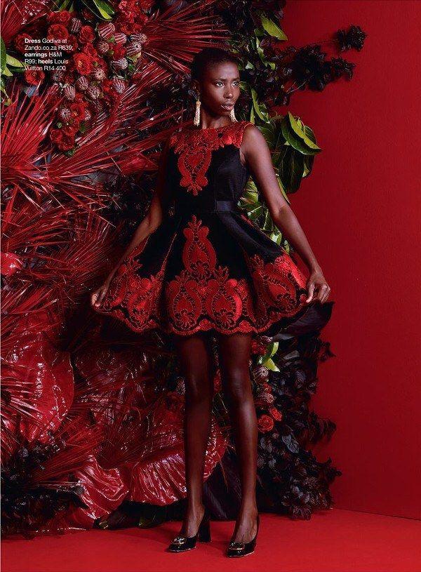 Kenyan Model Giannina Oteto Stuns The Covers Of Glamor Magazine South AfricaZumi