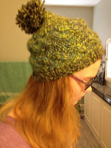b88a201342e Ravelry  Sideways Cable Hat pattern by  haveyoumetmycats