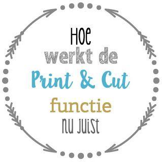 We geven weg! - Print & Cut functie uitgelicht - Vnila