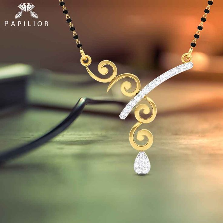 The bond of long lasting relationship begin with Urvi #Diamond Studded #Gold #Mangalsutra   #buydiamondmangalsutra #diamondmangalsutra #mangalsutra #goldmangalsutra