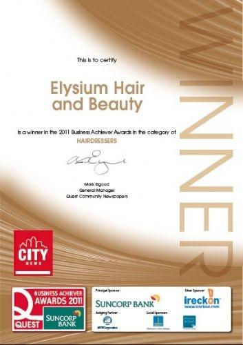 City News Award For Best Hairdressers In Brisbane 2012