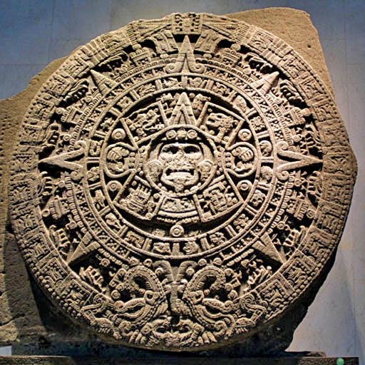 Mexica sun stone, not a calander and not Aztec. Twin brothers created this and the moon stone.