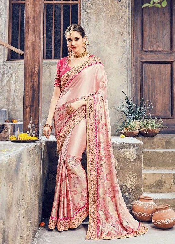 e592b6c3697beb Tantalizing Blush Pink  Saree