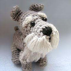 Schnauzer amigurumi crochet pattern by Cute and Kaboodle                                                                                                                                                     Más