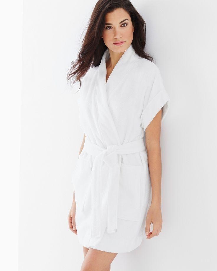 Short Sleeve Robe White | Fashideas.com